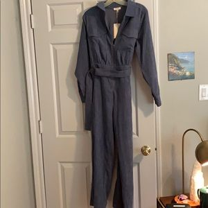 Blue corduroy jumpsuit new with tags